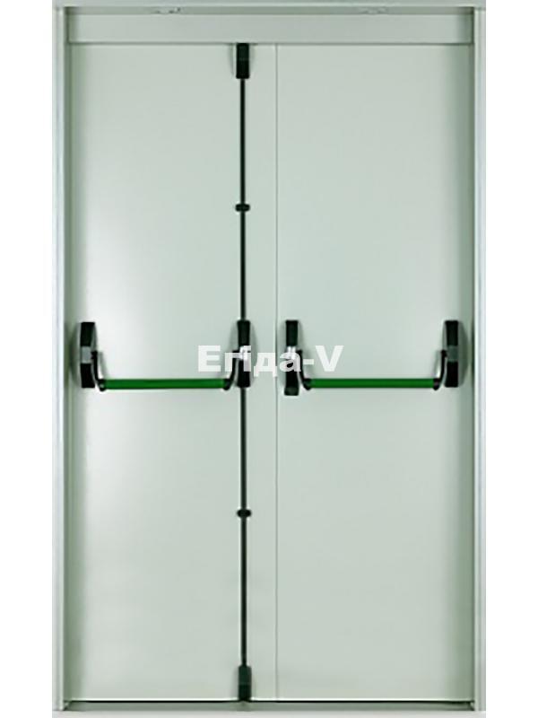 дверь металлическая двухстворчатая с антипаникой цена